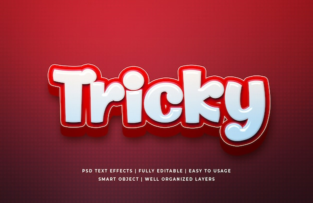 Tricky cartoon 3d text style эффект