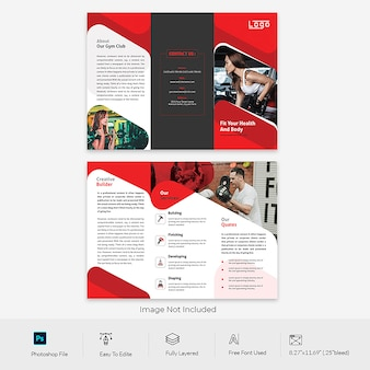 Trifold brochure for gymnasium