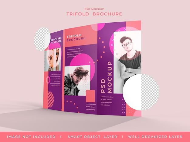 Trifold 브로셔 이랑 디자인 절연