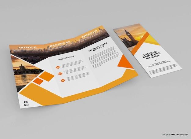 Дизайн макета брошюры trifold изолирован