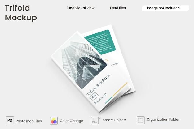 Trifold brochure mockup premium psd Premium Psd
