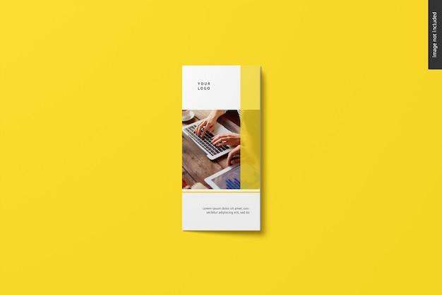 Mockup di brochure a tre ante