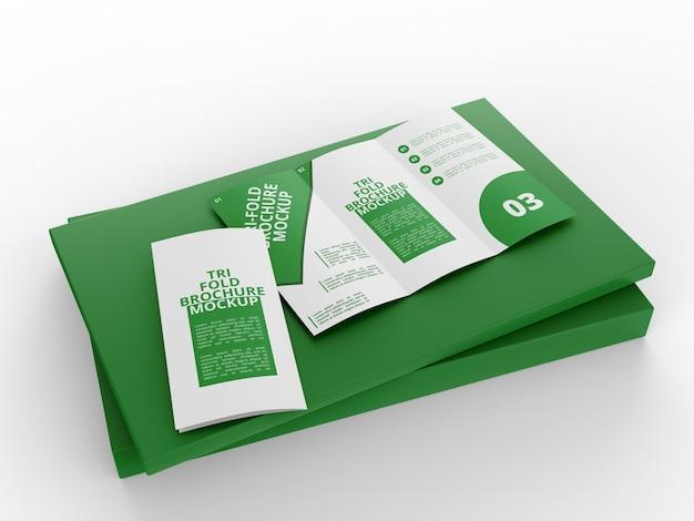 Trifold brochure mockup