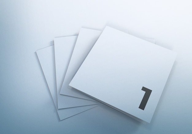 Дизайн мокапов брошюры trifold square