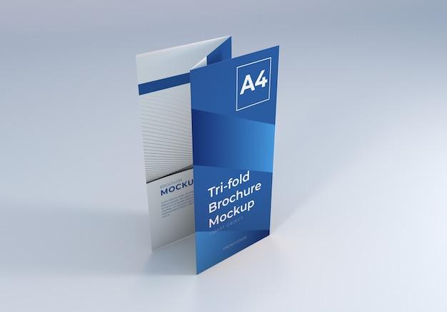 Брошюра trifold макет