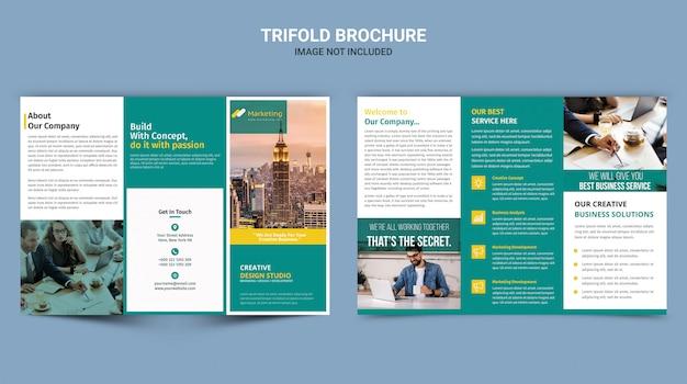 Корпоративная брошюра trifold