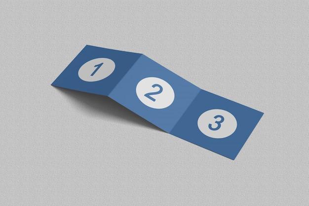 Брошюра квадратная trifold макеты