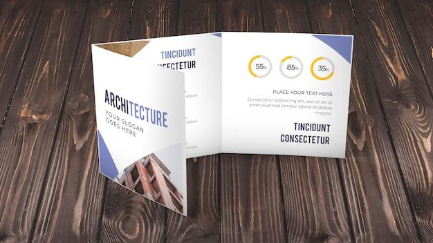 Trifold макет бизнес брошюры
