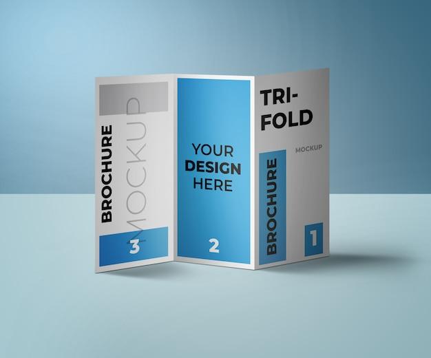 Макет брошюры trifold