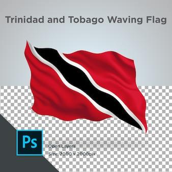 Trinidad and tobago flag wave design transparent
