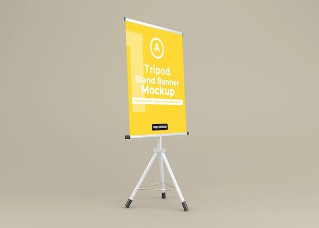 Tripod banner stand mockup design