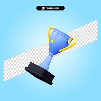 Трофей 3d визуализации изолированных иллюстрация