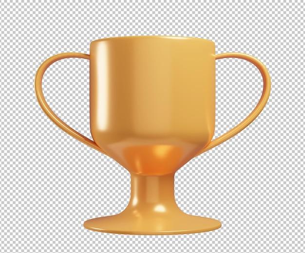 Трофей чемпиона 3d иллюстрации