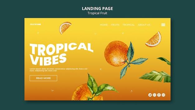 열대 과일 방문 페이지
