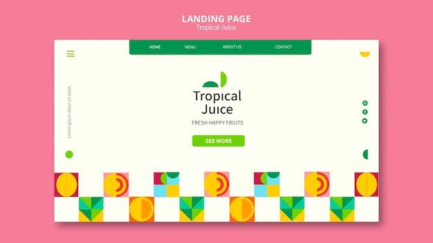 Tropical juice landing page
