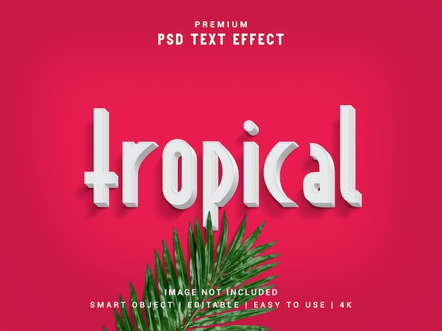 Tropical premium минимальный типографский эффект текста