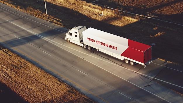 Макет грузового прицепа