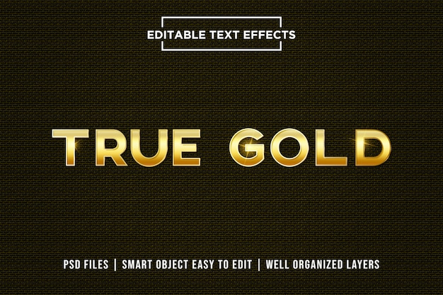 True gold text effect