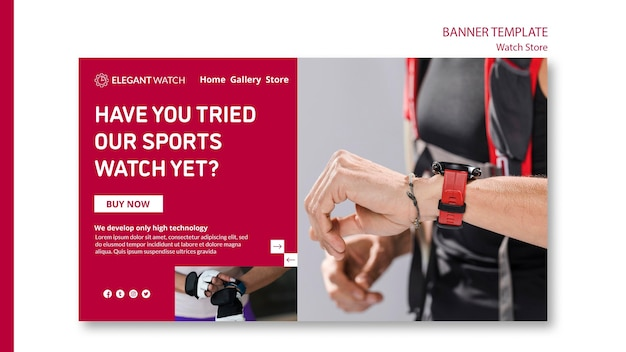 Try the sport watches banner template