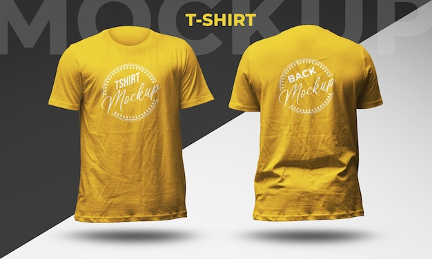 Tshirt front and back view mockup