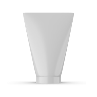 Tube of cream mockup design isolated