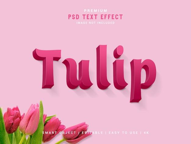 Tulip premium text effect