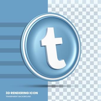 Значок рендеринга tumblr 3d