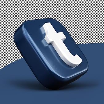 Tumblr 아이콘 3d 아이콘 렌더링 절연