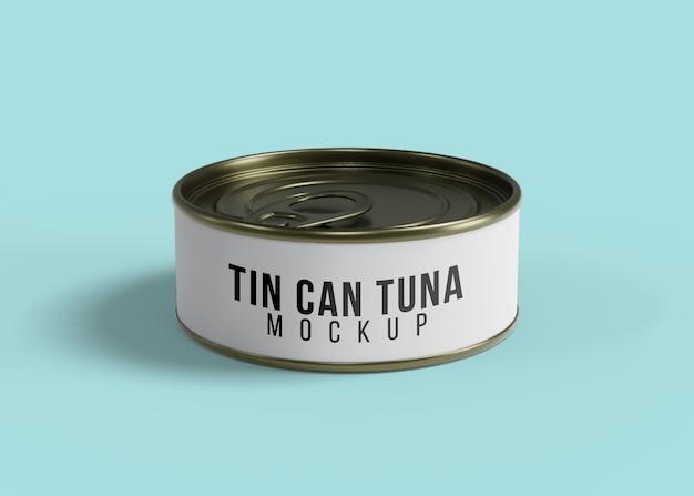 Tuna cans mockup