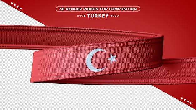 Turkey 3d render ribbon for composition