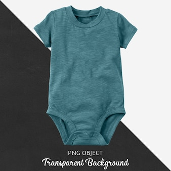 Turquoise baby bodysuit on transparent background