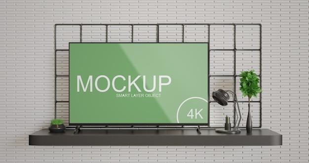 Tv display mockup simple and minimalist