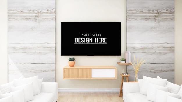 Телевизор в гостиной макет
