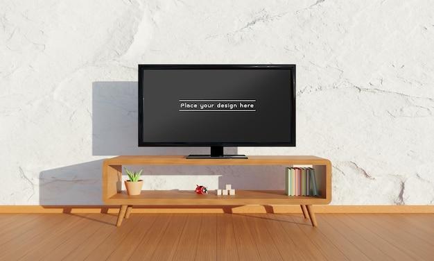 거실 모형의 tv.