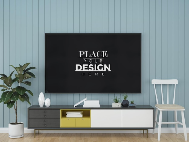 Tv in living room mock up