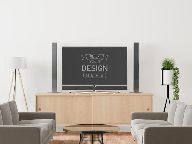 Tv in soggiorno mockup