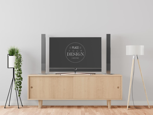 Tv in living room  mockup