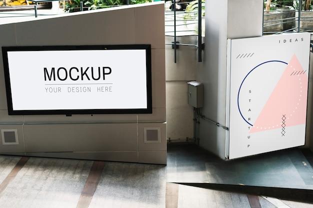 Макет экрана телевизора на дорожке
