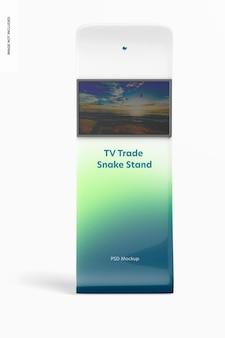 Мокап стенда змеи для телешоу
