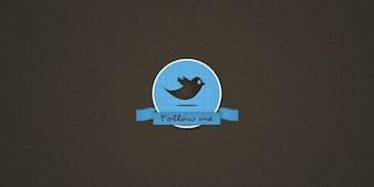 Tweet Badge with Bird Icon