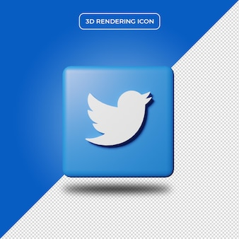 Tweeter 3d render icon isolated