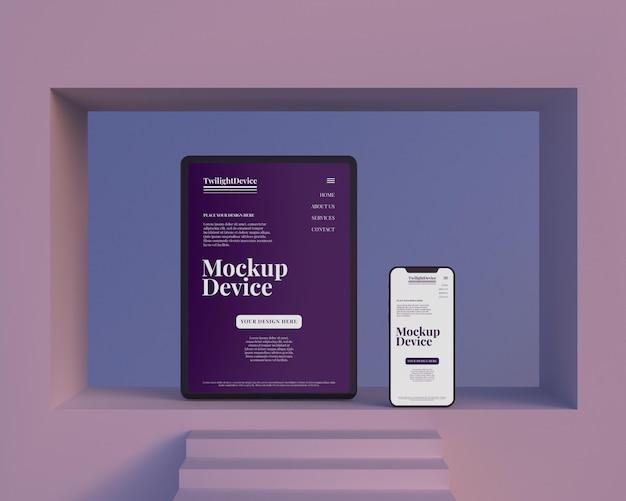 Design del mockup del dispositivo twilight