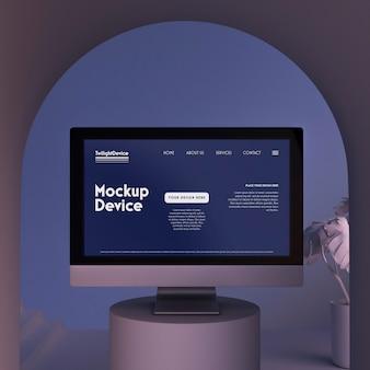 Twilight scene of device mockup