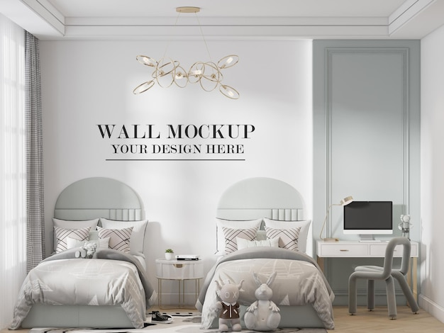 Twin bedroom wall background