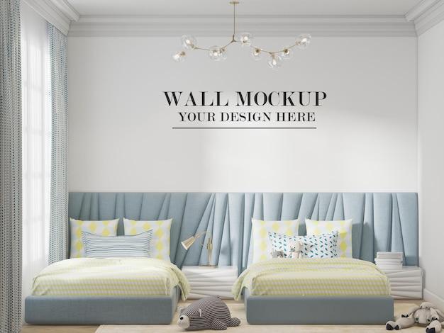 트윈 침실 벽 모형