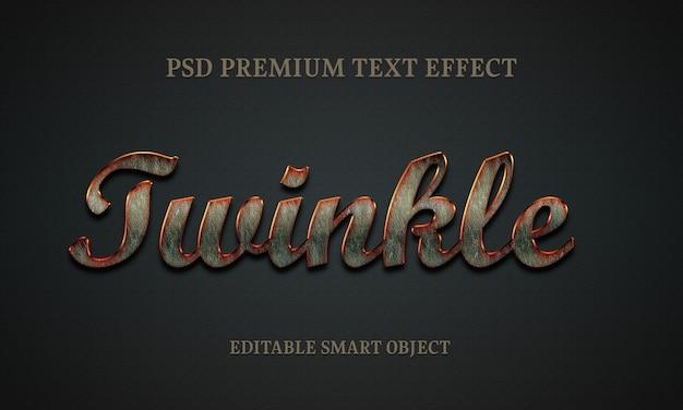 Дизайн с текстовыми эффектами twinkle