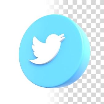 Значок twitter 3d