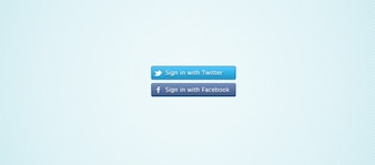 Twitter and Facebook Connect Buttons