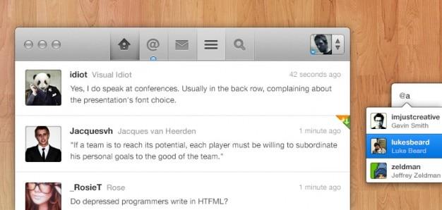 Twitter app concept  psd