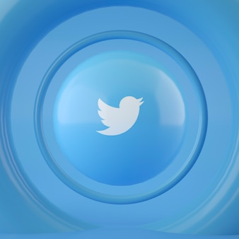 Твиттер логотип на сфере
